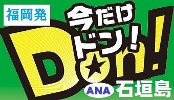 今だけドン!石垣島チョイス|福岡発 ANA往復航空券+ホテル1泊付~4泊付 格安ツアー