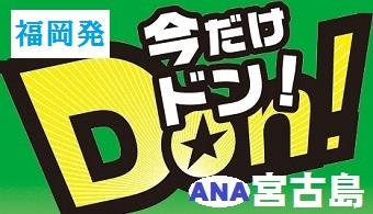 今だけドン!宮古島 福岡発 ANA往復航空券+ホテル1泊付~4泊付 格安ツアー