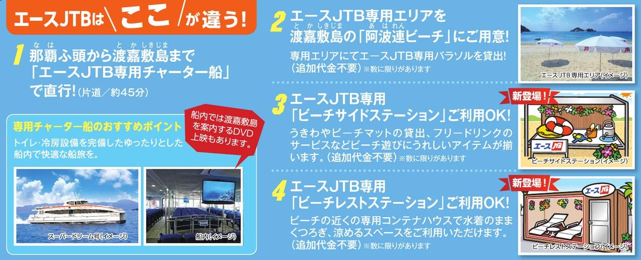 ≪阿波連ビーチ エース JTB おすすめポイント≫