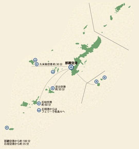 沖縄 簡易マップ