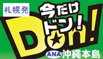 今だけドン!沖縄|札幌発 ANA 沖縄(本島)格安ツアー  1泊付~3泊付 直行利用OK!