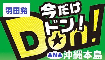 今だけドン!沖縄|東京発 ANA 航空券+ホテル1泊付~3泊付 格安パックツアー