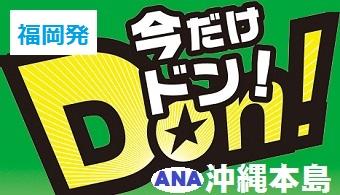 今だけドン!沖縄|福岡発 ANA往復航空券+ホテル1泊付~3泊付 格安ツアー