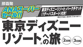 【予約期間限定】ANAスーパーセール!那覇発 東京ディズニーリゾートへの旅