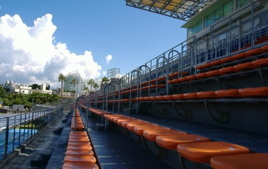 メインスタンド 沖縄市陸上競技場