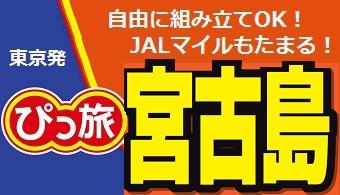 ぴっ旅 宮古島|東京発 JAL往復航空券+ホテル1泊付~5泊付 格安ツアー