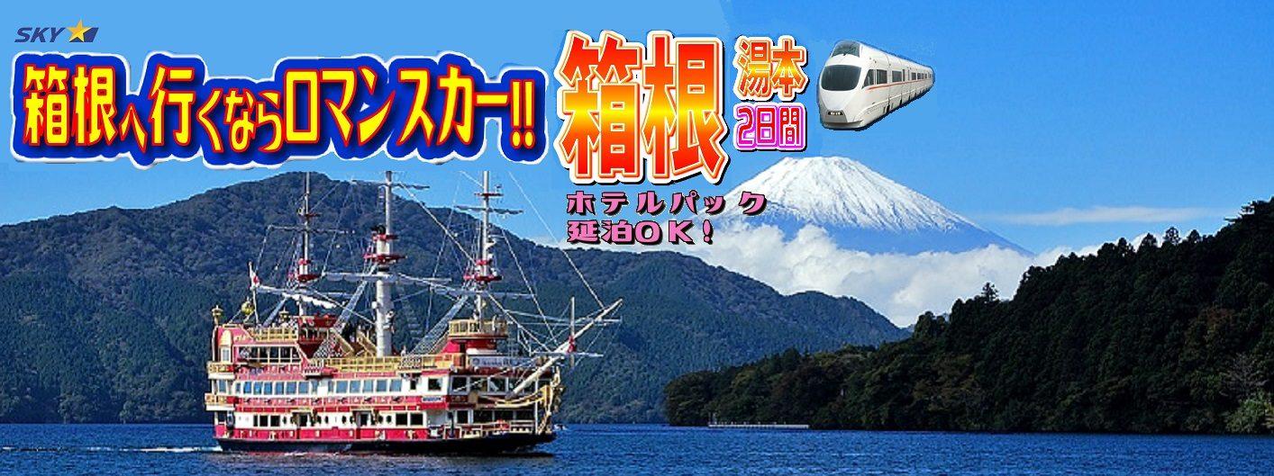 【ホテルパック】箱根温泉へ行くならロマンスカー!箱根湯本2日間(延泊可)|那覇発
