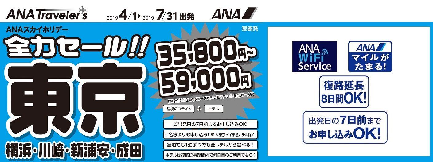 ANAスカイホリデー 沖縄発 東京ホテルパック