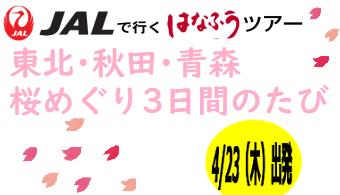 【添乗員同行】花見ツアー!東北・秋田・青森桜めぐり3日間のたび|那覇発 はなふうツアー
