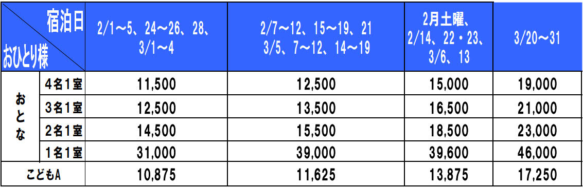 ホテルモントレ沖縄リゾート&スパ料金表