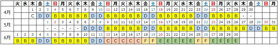 カレンダー ハイアット リージェンシー 瀬良垣アイランド 沖縄