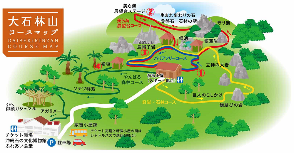 大石林山コースマップ