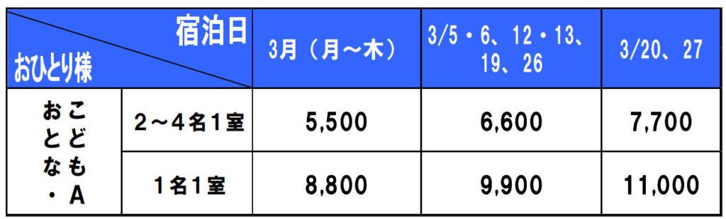 ホテルロイヤルオリオン料金表