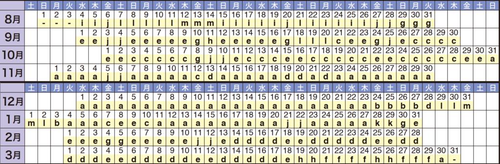 ホテル差額日カレンダー