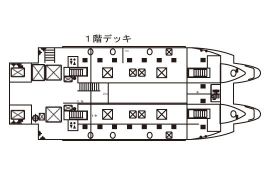 オルカ号 船内1階 イメージ