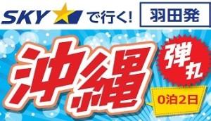 羽田発 スカイマーク深夜便で行く沖縄格安ツアー!