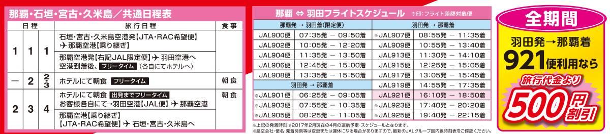 GOGO東京 日程&フライト